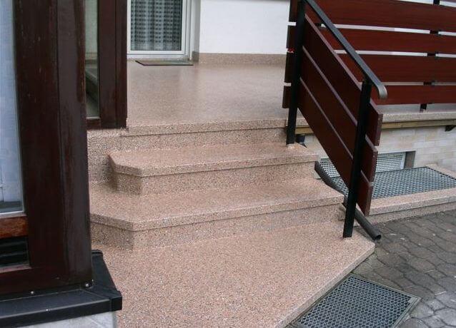 2K Epoxidharz Bodenbeschichtung Treppe Haus