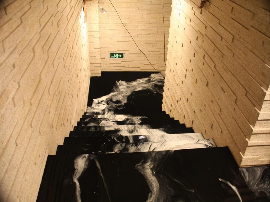 Epoxidharz marmor Treppe